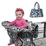 TAKOYI 2-in-1 Cover Shopping Cart Cover and High Chair Cover for Baby Machine Washable Portable and Foldable