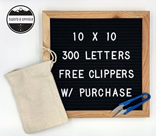 Halloween Decor Blog (LETTER BOARD 10x10 Black Felt | Oak Frame | Free letter clippers and Free Carrying Bag | 300 White Characters | Wall Mounting Hook)