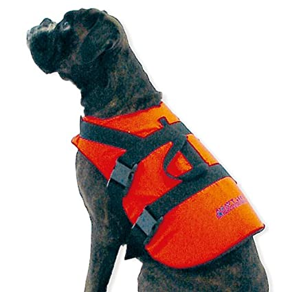 kg Signalfarbe Orange Bergegriff XL 0-40 wellenshop Hunde-Schwimmweste Rettungsweste Gr/ö/ße S