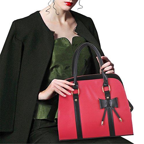 Tote Women A Shoulder Messenger Bags Hotpink Handbag for Vintage Hot zC0wqCp5x
