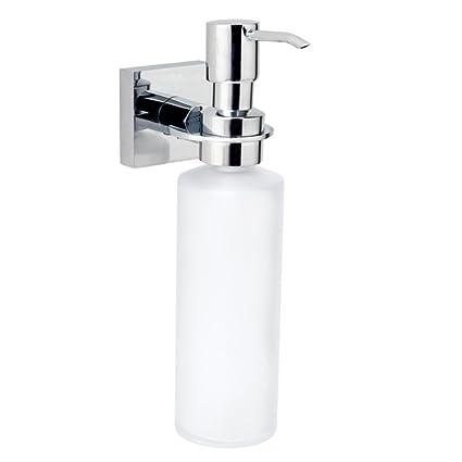 nie wieder bohren HU411 Hukk - Dispensador de jabón líquido de pared (sistema de fijación