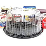 """Disposable/Reusable Plastic Display Cake Carriers by D & W Finepack (50, 8"""" High Dome) G23"""