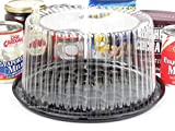 Disposable/Reusable Plastic Display Cake Carriers by D & W Finepack (50, 8'' High Dome) G23