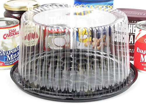 Disposable/Reusable Plastic Display Cake Carriers by D & W Finepack (50, 8'' High Dome) G23 by D&W Fine Pack (Image #2)