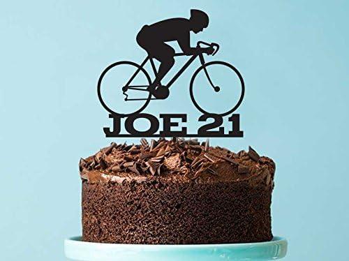Decoración para tarta de bicicleta, personalizable para tarta de ...