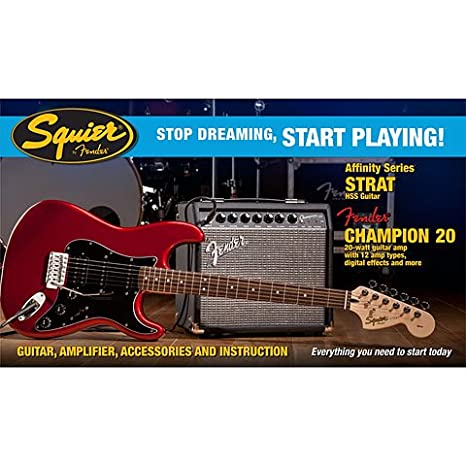 Squier Affinity HSS Strat Car · Guitarra eléctrica Set: Amazon.es: Instrumentos musicales