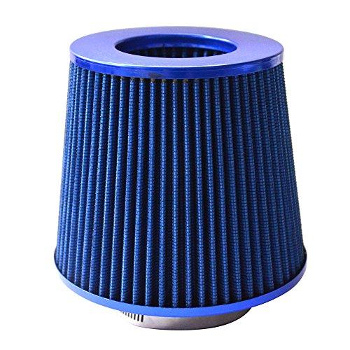 Air Filter Aluminum Cold Air Intake Ram Durable High Efficiency Universal 4 Inch(102mm) Blue