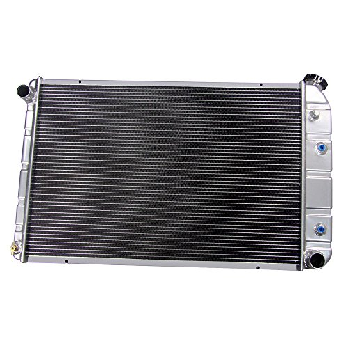 Chevy Suburban Truck Radiator - ALLOYWORKS 3 Row Aluminum Radiator for Chevy/GMC C/K Series 1973-1991 (B)