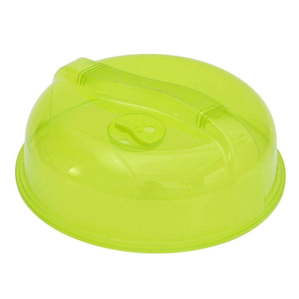 ASHOP Mikrowellen-Abdeckhaube, Durchmesser 26 cm, Kunststoff, Essen Abdeckung Plate Vented Splatter ProtectorMikrowellendeckel in Grün