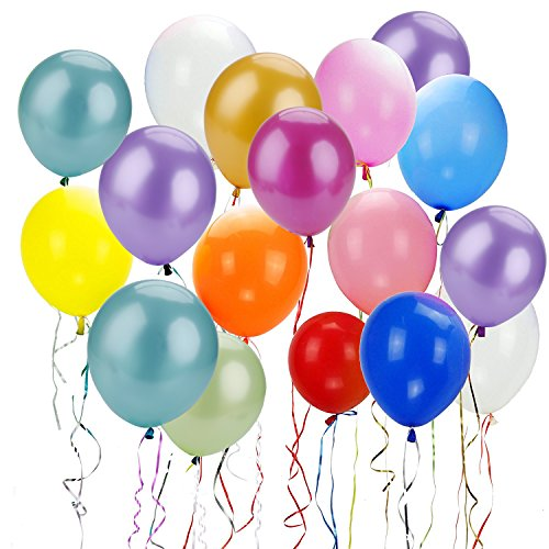 Outgeek 100-Piece 12 Inches Latex Balloons for Wedding Valentines Day Festivals Holiday Party (Balloon)