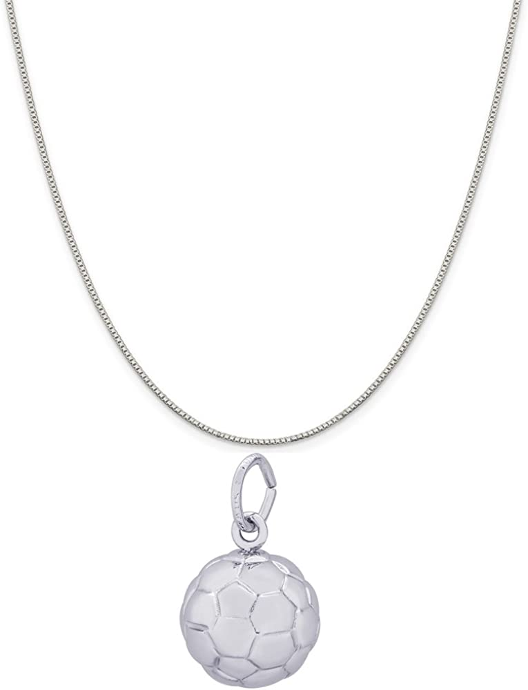 16, 18 or 20 Chain Raposa Elegance Sterling Silver Tennis Racquet Charm Necklace