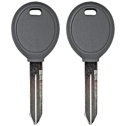 QualityKeylessPlus TWO Replacement Transponder Chip Keys Y160PT for Chrysler Vehicles with FREE KEYTAG