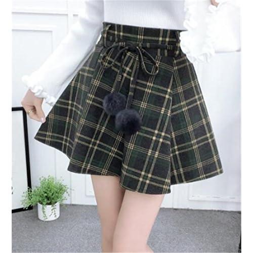 28183bbe1a delicate BESTHOO Mini Röcke Damen Schnürung Stilvoll Rock Kariertes Schöne  Röcke Swing Lässige Rock College A