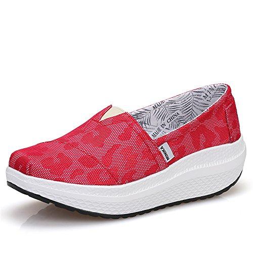 Believed Women Women Believed Girls Shape UPS Breathable Lightweight Shake Rocker Shoes Slip On Fitness Toning Walking Sneakers... B07BHMP7SQ Parent 0420de