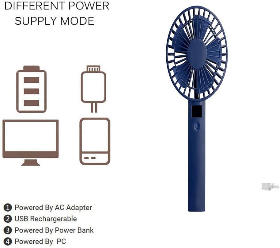 Office Camping YANGYA Portable Mini Handheld Desktop Fans Electric USB Table Rechargeable Fan for Home Outdoor and Travel-Black
