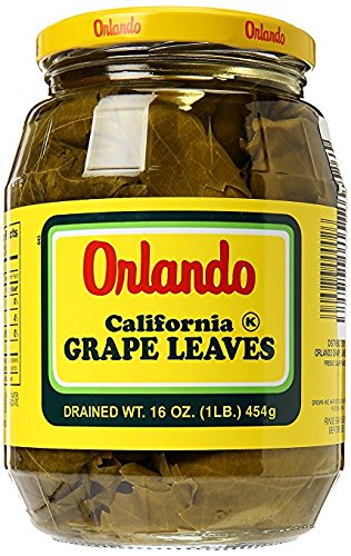 Orlando California Grape Leaves 16 oz. (Pack of 6) by Orlando