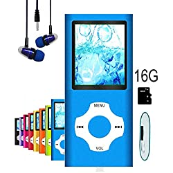MP3 Player / MP4 Player, Hotechs MP3 Music Player with 16GB Memory SD Card Slim Classic Digital LCD 1.82'' Screen with FM Radio, ¡­