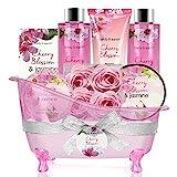 Bath Set for Women - Body&Earth 8 Pcs Gift Basket