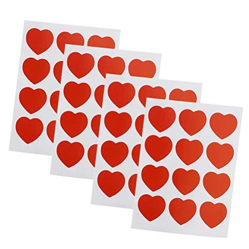 Amosfun Etiquetas Adhesivas de la Etiqueta engomada del Regalo de la Forma del corazón 4pcs para Casarse el día de Tarjetas...