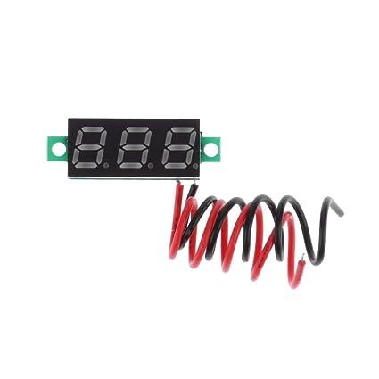 blu /30/V /à LED di voltm/ètre Digitale da 0.28inch dc2.5/ voltmetro Digitale starnearby Mini Panneau di Testeur di tensione di L