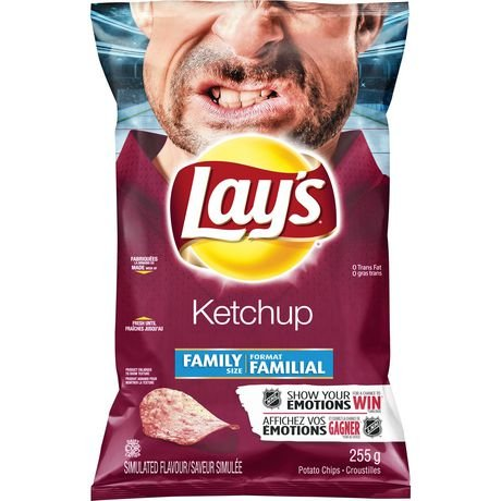 Lays Ketchup Potato Chips - Lay's Potato Chips - Ketchup 255g {Imported from Canada}