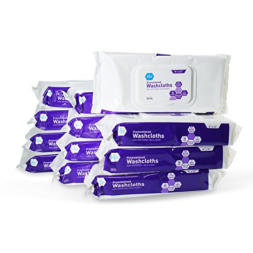 Wipes Adult (Medpride Adult Large washcloths, Pack of 12 (600 Count))