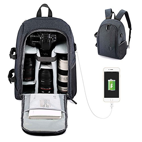 Usbagtech Professional Camera Backpack with USB Charging Por