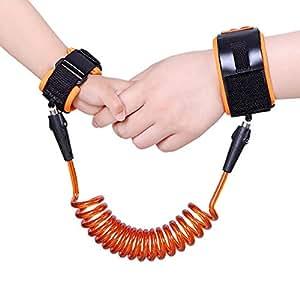 BORUI Baby Child Wrist Link Waist-Hand Connection Anti-Lost Belt Safety Link (2.5m, orange)