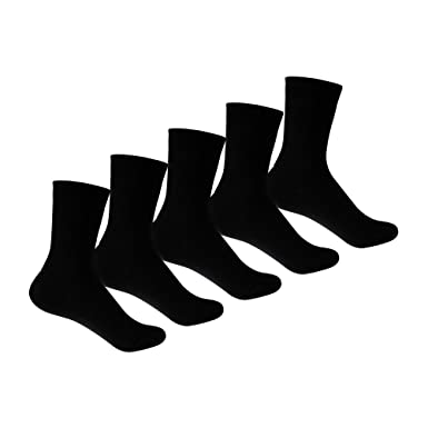 a7637f96fd3 Supersox Kid s Combed Cotton School Socks Pack of 5 (Black)  Amazon ...
