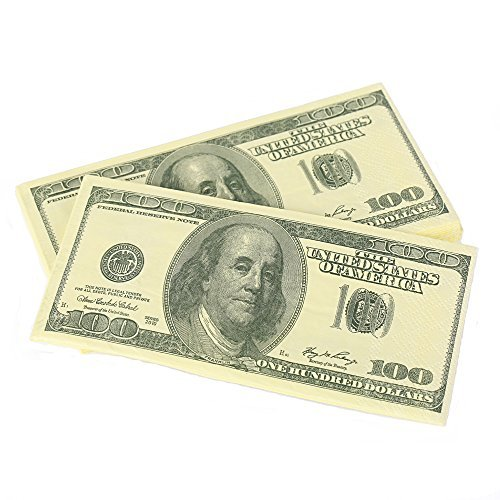 s Bill Funny Money Napkin,4 Packs(40 Napkins in Total) ()