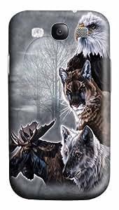 North American Collage Custom Samsung Galaxy I9300/Samsung Galaxy S3 Case Cover Polycarbonate 3D