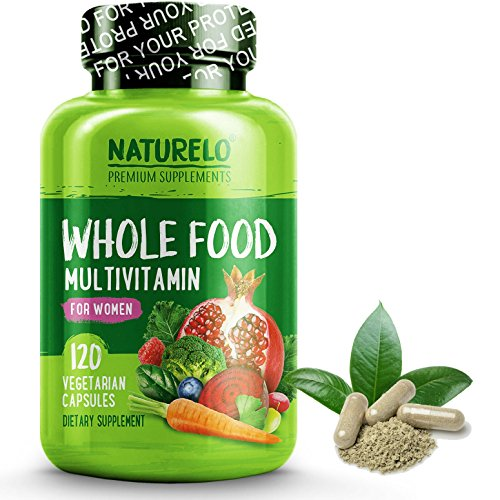 Naturelo Whole Food Multivitamin For Women    1 Ranked   Natural Vitamins  Minerals  Raw Organic Extracts   Best Supplement For Energy And Heart Health   Vegan   Non Gmo   120 Capsules