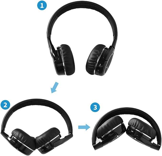 Meidong Auriculares Bluetooth Cancelacion Ruido Activa (Black-White)