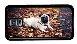 Samsung Galaxy S5 Cases Customized Cute Dog Black Hard PC Case