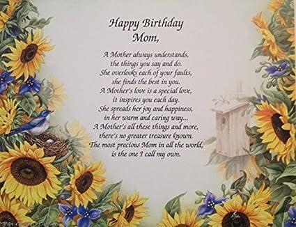 Amazon Com Gift For Mother Happy Birthday Mom Sentimental Poem