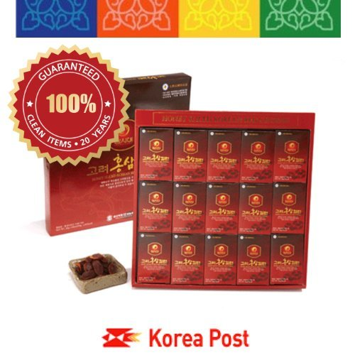 Deokwon Honeyed Korean Red Ginseng Slices 300g(20g x 15pieces) - Korean White Ginseng