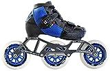 Luigino Kids Adjustable Blue Boot Size J13-2, Luigino Striker 4x90/3x110 Frame, Atom Matrix Blue 100mm Wheels, Bionic Abec 7 Bearings, Inline Speed Skates