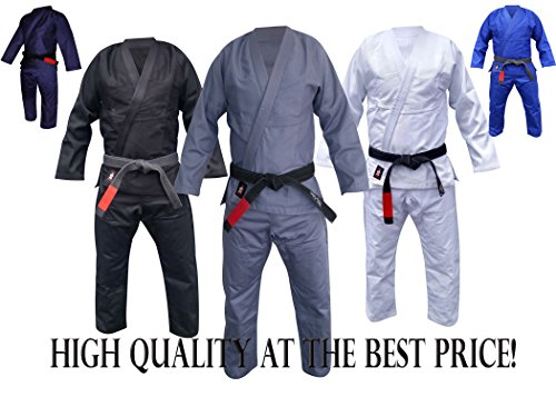 Your Jiu Jitsu Gear Brazilian Jiu Jitsu Premium Uniform A4 Grey