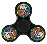 YHQ NY Team Islanders Ice Hockey Logo Fidget Spinner Toy 2017 Popular Cool NEW ARRIVAL Ultra Durable Fast& Long Time Tri-Hands Controlling Stress Reducer EDC Focus For ADD ADHD Pocket(BLACK)