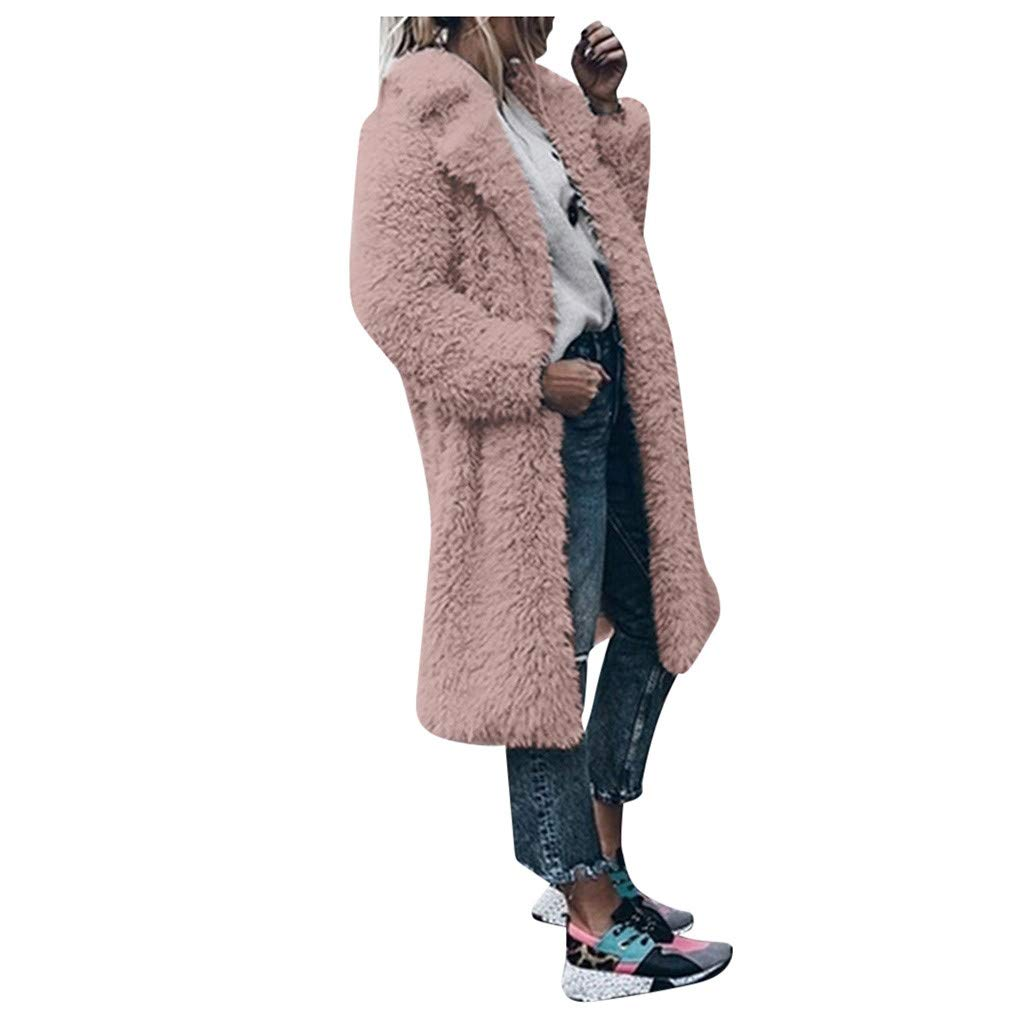 Shusuen Womens Kimono Batwing Cable Knitted Slouchy Oversized Wrap Cardigan Sweater Pink by Shusuen_Clothes