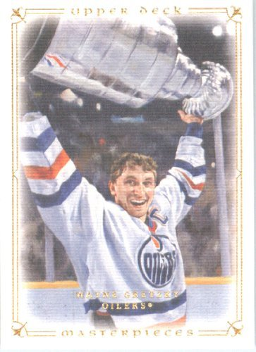 2008 09 Upper Deck Legends Masterpieces Hockey Card # 38 Wayne Gretzky Oilers (Upper Legends Deck 09)