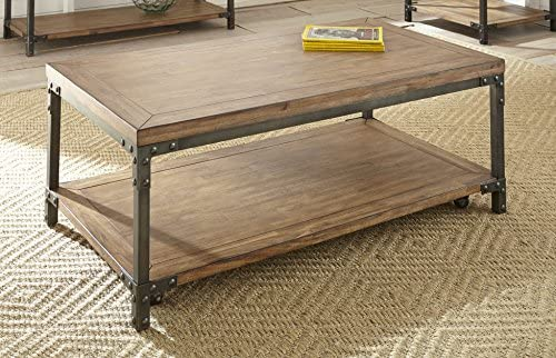 Steve Silver Lantana Coffee Table with Caster in Antique Honey