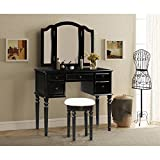 Best Bedroom Set With Stools - Merax Vanity Set w/ Stool Make-up Dressing Table Review