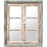 PL ウォールディスプレイ アンティーク調 開閉できる窓枠風鏡 Petit Monde ウィンドウミラー 50×60cm 40961