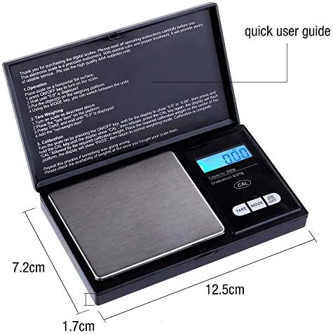 Zacro Pocket Scale Portable Elite Digital Kitchen Scale 200g X 0.01g Multipurpose Mini Scale Jewelry Scale LCD Display Food Scale