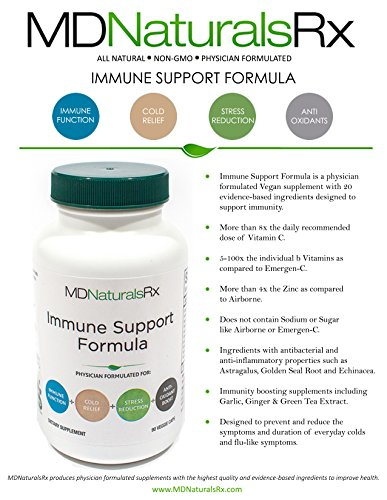Immune Support Formula- Best Supplement to Optimize Immunity for Cold and Cough Recovery- with ANTIOXIDANTS
