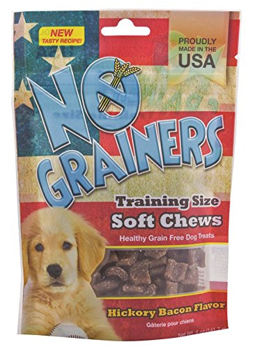 5-Ounce Nootie No Grainers Soft Chew Dog Treats, Hickory Bacon Flavor, 5-Ounce