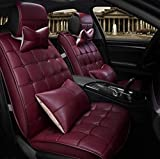 HOMEE@ Four Seasons Car Cushion All - Inclusive Universal Seat Cover , Rose Red,rose red