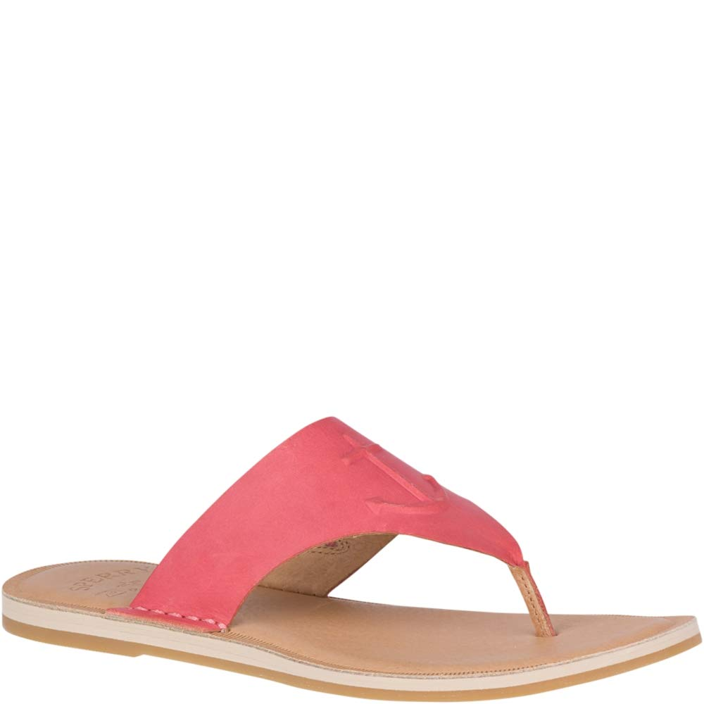 Washed Red Sperry Womens Seaport Thong Sandal