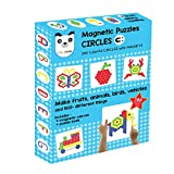 Play Panda Magnetic Puzzles : Circles - Includes 200 magnets, magnetic board, puzzle book with 90 puzzles